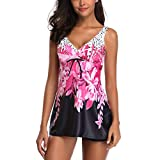 Bfmyxgs Damenmode Bikini Set Bademode Sexy Tankini Sets mit Jungen Shorts Damen Stylish Push-Up Gepolsterter BH Monokini Bademode Sets Badeanzug Beachwear