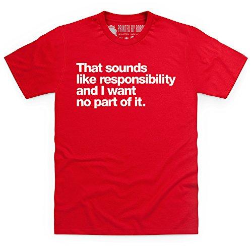 Responsibility T-Shirt, Herren Rot