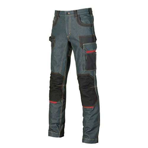 U-Power, pantaloni jeans'Platinum Button Rust', taglia 50, EX069RJ/50