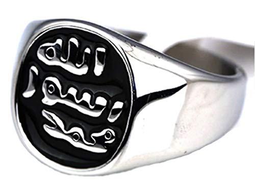 AccessCube Mohammed Islam Muslim Allah Gott islamischen Ring Edelstahl Muslim Shahada Antiker Ring (7)