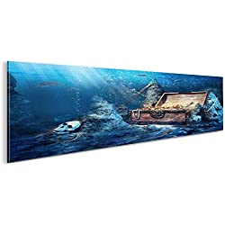 De Imágenes sobre lienzo Cofre del Tesoro Buceo bajo el agua de mar panorámico XXL Póster Lienzo Cuadro de decoración salón Marca Islandburner