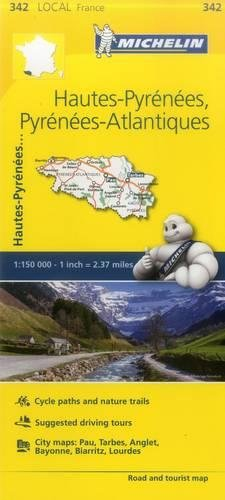 Hautes-Pyrenees, Pyrenees-Atlantiques - Michelin Local Map 342 (Mapas Local Michelin) (Michelin Maps Deutschland)