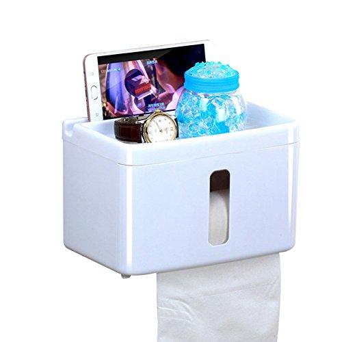 Kosmetiktücher box Gewebe-kastenabdeckung, Keine bohrer Badezimmer Küche Wc papierhalter Wandhalterung-Weiß (Wandhalterung Wc-gewebe)