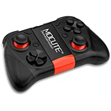 MOCUTE-050 Gamepad Wireless Mando de Juego Inalámbrico Bluetooth para Smartphone Tablet PC TV Box Smart TV (Soporta VR Juego, con Joystick, Compatible con Android e IOS) (Negro)