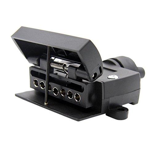 KKmoon New Australian 7-Pin Flat Female Trailer Plug Socket Adapter For Caravan RV Boat Truck Test