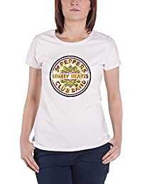 The Beatles T Shirt SGT Pepper Drum Official Womens Super Skinny Fit