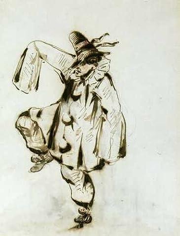 Pierrot Dancer 1849 A3 Box Canvas Print