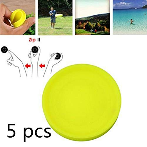 zaote Zip-Chip Frisbee Mini Pocket Flexible Frisbee Flying Discs Silicone Frisbee Soft Outdoor Beach Sports Toy New Spin In Catching Game Flying Disc