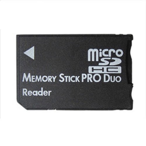 Xiton micro sd sdhc tf memory stick pro duo ms card reader psp converter adapter