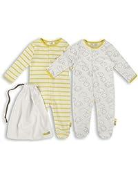 The Essential One - Unisex Baby Schlafanzuge/Schlafanzug/Einteiler/langarmeliger Body/ Strampler (2-er Pack mit Beutel) - ESS157