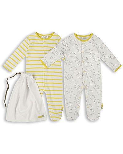 Unisex Schlafanzuge//Schlafanzug//Einteiler//langarmeliger Body//Strampler - ESS97 The Essential One 3-er Pack mit Beutel