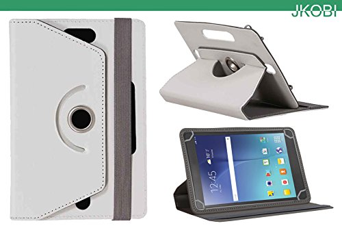 Jkobi 360* Rotating Front Back Tablet Book Flip Flap Case Cover Compatible For Samsung Galaxy Tab 3 T311 -White  available at amazon for Rs.225