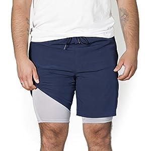 RR Sports 2 in 1 Shorts Herren, Sporthose mit Taschen in verschiedenen Farben