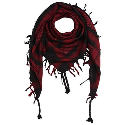 Superfreak Palituch - schwarz - rot-bordeaux - 100x100 cm - Pali Palästinenser Arafat Tuch - 100{77a41921e1a742da7aa88de33fc5fe6e02f90097deecf993c956ec8c5e61c5f9} Baumwolle