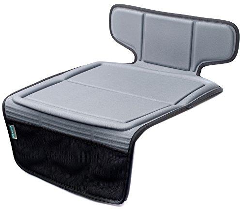 Preisvergleich Produktbild Autositzschutz für Kindersitze von Kid Transit, sehr stabil, Isofix-kompatibel, hält Ihre Autopolster wie neu, Grau
