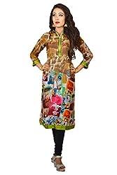 Maasha Women's Georgette Kurti (Maashakurti1033_Multicolor_X-Large)