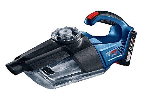 Bosch Professional Akku-Handstaubsauger GAS 18V-1 (ohne Akku, Absaugrohr, Fugendüse, Teppichdüse, Behältervolumen 1 Liter, 18 Volt System) (Griff Handstaubsauger)