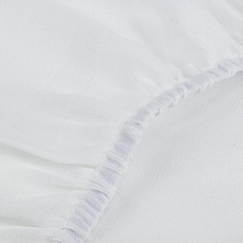Angelof Débardeur Col V Femme Caraco Plissé Camisole Mousseline sans Manches Blouse Dos Nu Été Ado Fille Blanc