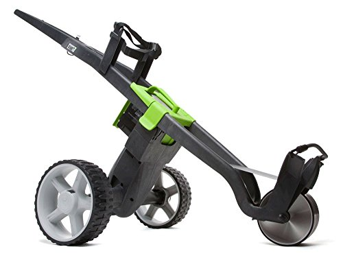 """NEW 2016"" GO KART ELECTRIC GOLF TROLLEY + BATTERY & CHARGER ALL COLOURS !!!!!!! (Black/Green)"