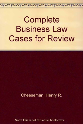 Complete Business Law Cases for Review