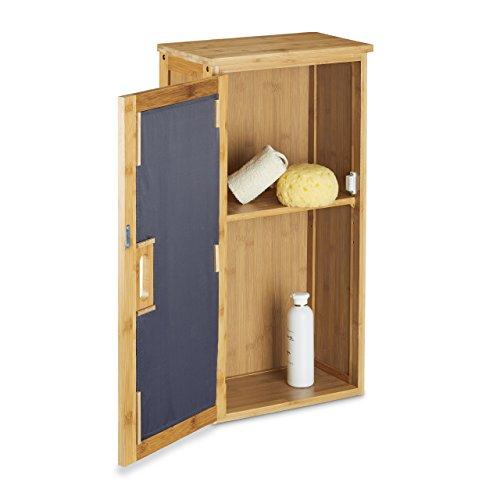 relaxdays badezimmerschrank aus bambus 66 x 35 x 20 cm. Black Bedroom Furniture Sets. Home Design Ideas