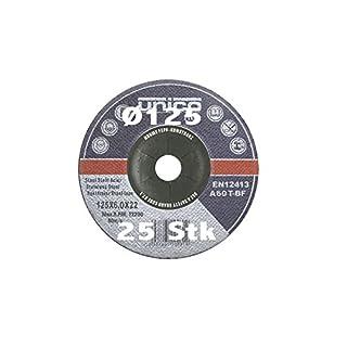 25 Stück Schruppscheibe Ø 125mm für Winkelschleifer T27 gekröpft Schleifmopteller