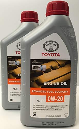 Toyota Genuine Olio Motore Sintetico 0W-20 Fuel Economy Pack 2 Litri (Hybrid)