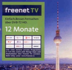 freenet TV, Verlängerung 12 Monate, Aktivierungskarte