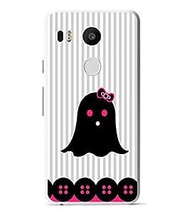 PrintVisa Designer Back Case Cover for LG Nexus 5X :: LG Google Nexus 5X New (Cute Girly Design In Black And Pink)