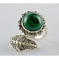 Malachit 925 Sterling Silber handgefertigt Ringgröße 14 bis 22 DE