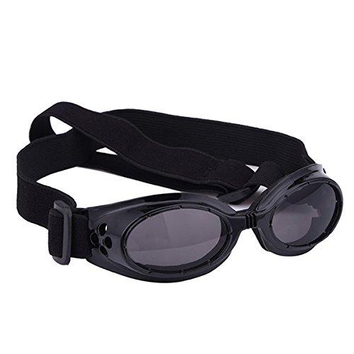 UEETEK Cane di animale domestico UV occhiali da sole occhiali da sole occhiali da sole protettivi con cinturino regolabile per cucciolo cane Cat(Black) NUx2H8Z
