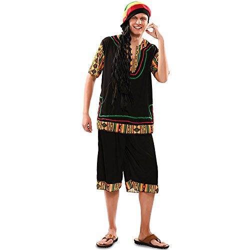 Kostüm Rasta - EUROCARNAVALES Herren Kostüm Rasta Man Gr. M/L Bob Marley Jamaika Reggae Fasching Karneval