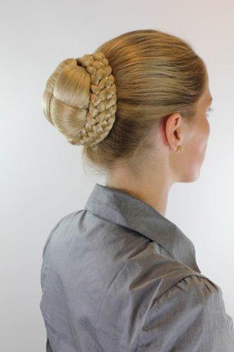 Haarteil aufwendig geflochten Zopf Dutt Haarknoten Tracht Blond Blondmix (Russland Trachten)