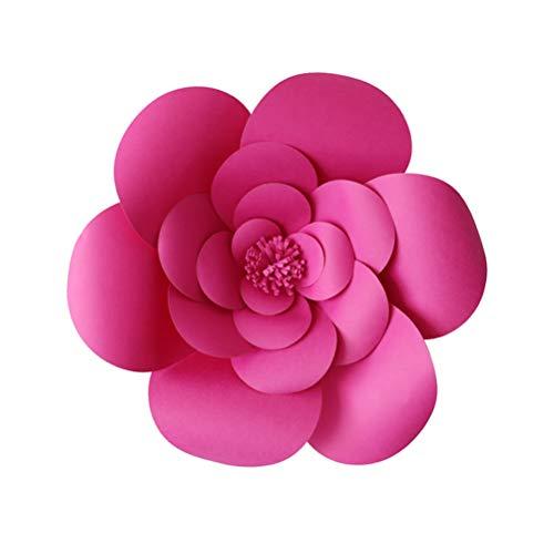 Amosfun 3D Papier Blume Party Papier Blume Hintergrund Wanddekoration für Zuhause Hochzeit Hintergrund Fotografie Hintergrund Dekoration 20 cm (Für Partei Mittelstücke Die)