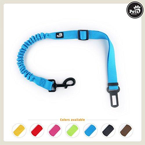 Pets&Partner® Hunde Autogurt / Sicherheitsgurt in verschiedenen Farben passend zu Halsband und Geschirr, Marine Blau (Marine-blau-gurt)