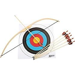 small foot 6743 Tir à l'arc de sport en bois; arc, 6 flèches et cible inclus, à partir de 6 ans