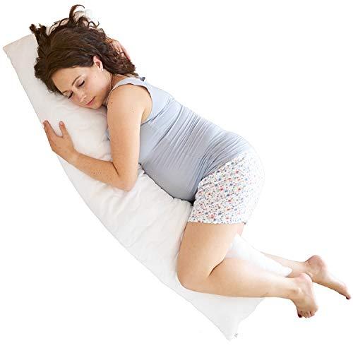 Traumreiter Festes Seitenschläferkissen Mougli 145 cm Schwangerschaftskissen Lagerungskissen Mutterschaftskissen