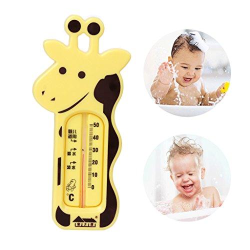 Autone bayh Baden-Thermometer, Motiv Giraffe, Temperatur, Baby-Dusche, Spielzeug, zufällige Farbauswahl, 1Stück (Blaue Giraffe Baby-dusche)