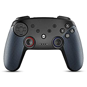 Raniaco Wireless Controller für Nintendo Switch und PC (verkabelt), Bluetooth Pro Controller mit 6-Achsigem Gyro-Gehäuse, 20 Stunden Spielzeit, Dual-Vibration Gamepad, Zubehör für Nintendo Switch