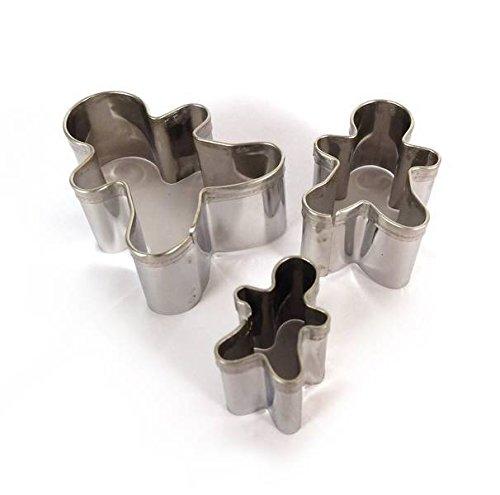 Emporte-pièces métal - Bonhomme pain d'épices - 3 pièces - DTM