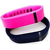 Comparador de precios ! Small S 1pc Navy (Blue) 1pc Purple / Pink Replacement Bands + 1pc Free Small Grey Band With Clasp for Fitbit FLEX Only /No tracker/ Wireless Activity Bracelet Sport Wristband Fit Bit Flex Bracelet Sport Arm Band Armband by Pl - precios baratos