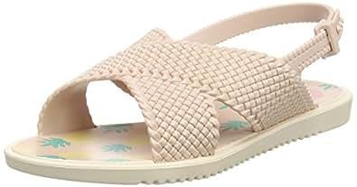 Zaxy Mädchen Kids Weave Sandal Offene Keilabsatz, Pink (Bright Pink 22551), 32 EU