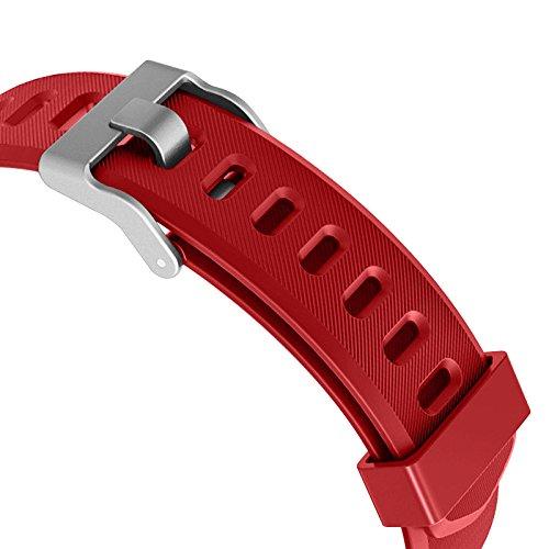 Toksum Boost 2 Fitness Tracker, Ersatzarmband für Smart-Armbanduhr, rot