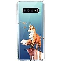 Oihxse Compatible con Samsung Galaxy A70/A70S Funda Suave Gel TPU Silicona Cristal Transparente Carcasa Acuarela Animal Pintado Patrón Protectora Estuche Bumper Caso Case (B2)