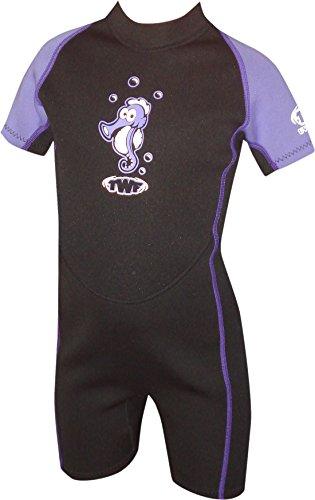 TWF Seahorse - Traje para deportes acuáticos, color morado, talla 1-2 Años