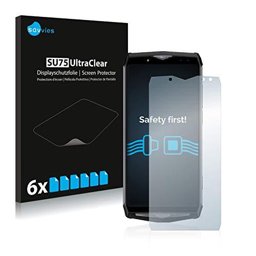 Savvies Schutzfolie kompatibel mit Ulefone Power 5 (6 Stück) - ultraklare Bildschirmschutz-Folie