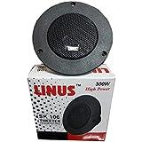 Linus SK-106 Piezo Dome Audio System Tweeter Speakers (Black)