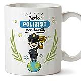 Polizist Tasse/Becher / Mug Geschenk Schöne and lustige kaffetasse Polizist der Welt - Keramik 350 ml