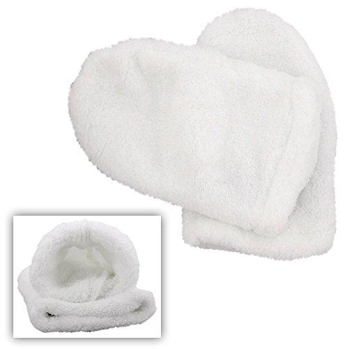 Weiche Mikrofaser Paraffin-Bad Handschuhe, Kosmetex Silver Kosmetikhandschuhe, Wärmehandschuhe, weiß 1 Paar, Handschuh