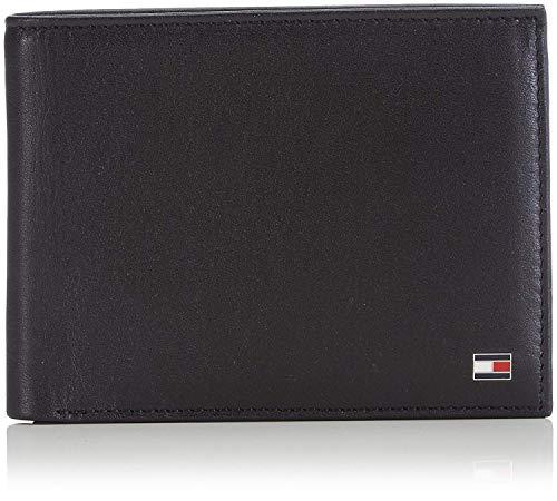 Tommy hilfiger eton cc and coin pocket, porta carte di credito uomo, nero, 75 cm